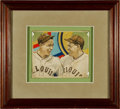 Baseball Cards:Singles (1930-1939), 1934-36 R327 Diamond Stars Rogers Hornsby and Jim BottomleyUnpublished Original Art. ...