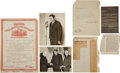 "Autographs:Others, 1920's Babe Ruth Life Insurance Documents with ""George HermanRuth"" Signed Letter...."