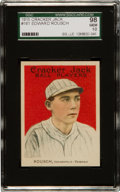 Baseball Cards:Singles (Pre-1930), 1915 E145-2 Cracker Jack Ed Rousch (Roush) #161 SGC 98 Gem 10 - TheUltimate 1915 Cracker Jack. ...