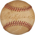 Autographs:Baseballs, Circa 1950 Tris Speaker Single Signed Baseball....