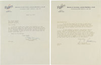 1957 Walter O'Malley Signed Letter re: Possible Brooklyn Exodus