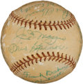 Autographs:Baseballs, Circa 1950 Hall of Famers Multi-Signed Baseball with Cobb, Baker,DiMaggio....