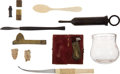 Antiques:Antiquities, Lot of 9 Assorted Civil War Medical Tools and Artifacts. ...