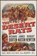 "Movie Posters:War, The Desert Rats (20th Century Fox, 1953). One Sheet (27"" X 41"")Flat Folded War.. ..."