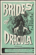 "Movie Posters:Horror, Brides of Dracula (Universal International, 1960). One Sheet (27"" X41""). Horror.. ..."