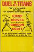 "Movie Posters:Action, Duel of the Titans (Paramount, 1963). One Sheet (27"" X 41""). Style B ""Fight Poster"" style. Action.. ..."