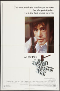 """...And Justice for All (Columbia, 1979). One Sheet (27"""" X 41""""). Drama"""