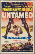 "Movie Posters:Adventure, Untamed and Other Lot (20th Century Fox, 1955). One Sheets (2) (27""X 41""). Adventure.. ... (Total: 2 Items)"