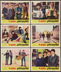 """A Hard Day's Night (United Artists, 1964). Lobby Cards (6) (11"""" X 14""""). Rock and Roll. ... (Total: 6 Items)"""