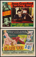 "Movie Posters:Crime, The Glass Web and Other Lot (Universal International, 1953). Title Lobby Card (3-D Style) and Lobby Card (11"" X 14""). Crime.... (Total: 2 Items)"