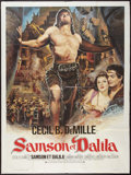 "Movie Posters:Adventure, Samson and Delilah (Paramount, R-1972). French Grande (47"" X 63"").Adventure.. ..."