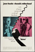 "Movie Posters:Thriller, Klute (Warner Brothers, 1971). One Sheet (27"" X 41""). Thriller....."