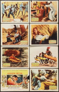 "Movie Posters:Adventure, Safari (Columbia, 1956). Lobby Card Set of 8 (11"" X 14"").Adventure.. ... (Total: 8 Items)"