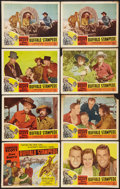 """Movie Posters:Western, The Thundering Herd (Favorite Fims, R-1950). Title Lobby Card and Lobby Cards (7) (11"""" X 14""""). Western.. ... (Total: 8 Items)"""