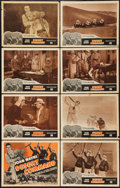 "Movie Posters:Action, Desert Command (Favorite Films, R-1949). Lobby Card Set of 8 (11"" X 14""). Action.. ... (Total: 8 Items)"