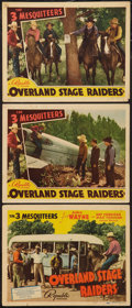 """Movie Posters:Western, Overland Stage Raiders (Republic, 1938). Title Lobby Card & Lobby Cards (2) (11"""" X 14""""). Western.. ... (Total: 3 Items)"""