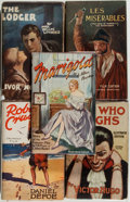 Books:Fiction, [Five Photoplay Editions]. Including: Victor Hugo. LesMisérables.. London: The Readers Library. Photoplay e...(Total: 5 Items)