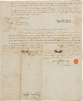 Autographs:Military Figures, Meriwether Lewis and William Clark: The Only Known Document Bearing the Signatures of Both Legendary Explorers in Private Hand...