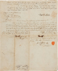 Meriwether Lewis and William Clark: The Only Known Document Bearing the Signatures of Both Legendary Explorers in Privat...