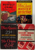Books:Fiction, Ellery Queen. Four Books, Including: The Origin of Evil.Boston: Little, Brown and Company, 1951. First edition,... (Total:4 Items)