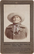 Autographs:Celebrities, Geronimo: A Signed Cabinet Photo of the Feared Apache Leader. ...