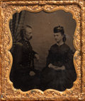 Photography:Tintypes, George and Elizabeth Custer: An Important Unpublished Tintype Image Taken in Texas in 1865. ... (Total: 2 Items)