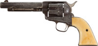 A Fine Factory-Engraved Nickel Finish Colt Model 1873 Six-Shooter with a Colorful History