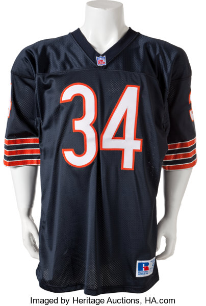ceeb52b9cd8 Football Collectibles:Uniforms, 1990's Walter Payton Signed Chicago Bears  Jersey.