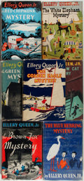 Books:Fiction, Ellery Queen Jr. Seven Books, three of which are signed, including:The Green Turtle Mystery. Philadelphia and N... (Total: 7Items)