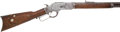 Long Guns:Lever Action, Winchester Model 1873 Lever Action Rifle Adorned With BrassTacks....