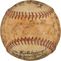 Autographs:Baseballs, 1939 Brooklyn Dodgers Team Signed Baseball....