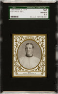Baseball Cards:Singles (Pre-1930), 1909 T204 Ramly George Bell SGC 92 NM/MT+ 8.5 - Finest SGC Known! ...