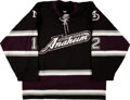 Hockey Collectibles:Uniforms, 2003-04 Mike Leclerc Game Worn Anaheim Mighty Ducks Jersey....