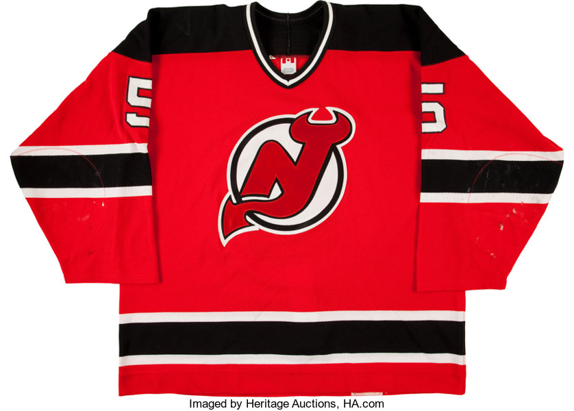 the best attitude c14c5 7bcff 2002-03 Colin White Game Worn New Jersey Devils Jersey ...