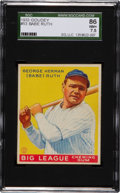 Baseball Cards:Singles (1930-1939), 1933 Goudey Babe Ruth #53 SGC 86 NM+ 7.5....