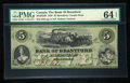 Canadian Currency: , Brantford, CW- Bank of Brantford $5 Nov. 1, 1859 Ch # 40-10-02-08....
