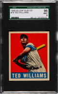 Baseball Cards:Singles (1940-1949), 1948 Leaf Ted Williams #76 SGC 96 Mint 9 - One of Two MINT Known!...