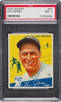 Baseball Cards:Singles (1930-1939), 1934 Goudey Lou Gehrig #37 PSA NM 7....