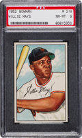 Baseball Cards:Singles (1950-1959), 1952 Bowman Willie Mays #218 PSA NM-MT 8....