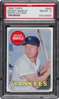 Baseball Cards:Singles (1960-1969), 1969 Topps Mickey Mantle, White Letters #500 PSA NM-MT 8....