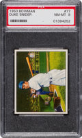 Baseball Cards:Singles (1950-1959), 1950 Bowman Duke Snider #77 PSA NM-MT 8....