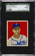 Baseball Cards:Singles (1940-1949), 1949 Bowman Gil Hodges #100 SGC 92 NM/MT+ 8.5 - Pop Three, TwoHigher....