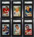 Football Cards:Sets, 1952 Bowman Small Football Complete Set (144). ...