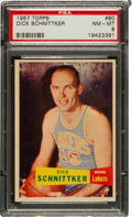 Basketball Cards:Singles (Pre-1970), 1957 Topps Dick Schnittker #80 PSA NM-MT 8 - None Higher....