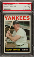 Baseball Cards:Singles (1960-1969), 1964 Topps Mickey Mantle #50 PSA NM-MT 8....