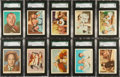 "Non-Sport Cards:Lots, 1959 Fleer ""Three Stooges"" SGC Graded Collection (16)...."