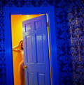Photographs:20th Century, GUIDO ARGENTINI (Italian, b. 1966). Thea Through a BlueDoor, 2008. Archival pigment, 2010. 60 x 72 inches (152.4 x182....