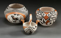 American Indian Art:Pottery, THREE ACOMA POLYCHROME VESSELS. Lucy M. Lewis and Rose Chino. c.1975... (Total: 3 Items)