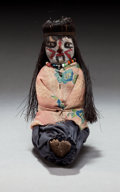 American Indian Art:Pottery, A SMALL MOHAVE FEMALE POTTERY DOLL. c. 1910...