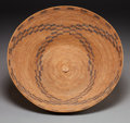 American Indian Art:Baskets, A LARGE PATWIN COILED BOWL. c. 1890...